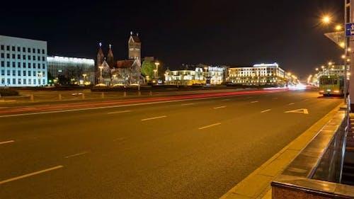 Nachtstadt Zeitraffer