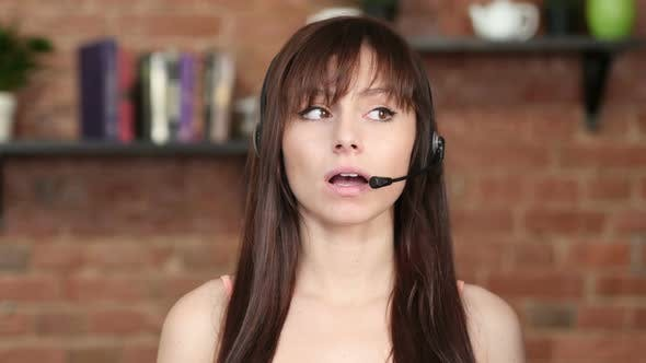 Thumbnail for Talking Call Center Woman,  Customer Service Indoor