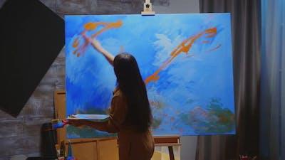 Inspired Woman Artist