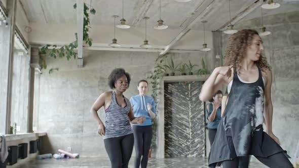 Thumbnail for Women Rehearsing Dance in Studio