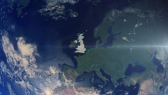 Thumbnail for Realistic Earth Zoom Highlight Country United Kingdom