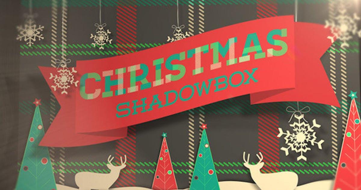 Christmas Shadowbox Display