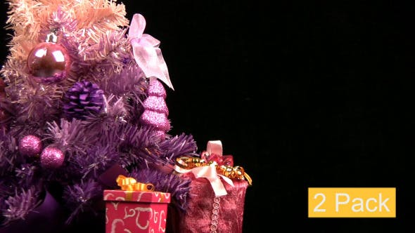 Thumbnail for Pink Christmas Tree Rotates (2-Pack)