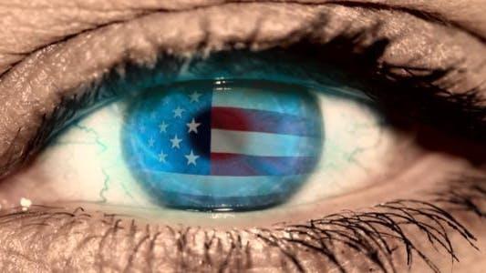 Thumbnail for Eye USA Flag