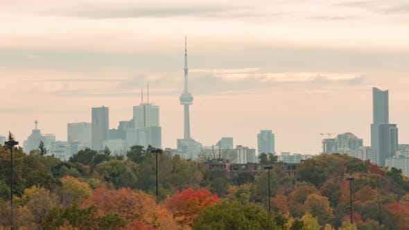 Thumbnail for Toronto, Canada, Hyperlapse   - Hyperlapse of the Downtown Toronto