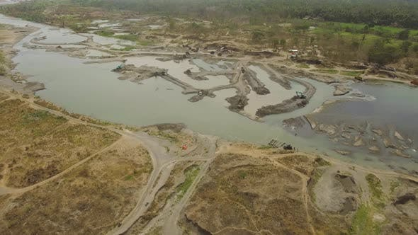 Thumbnail for Cleaning and Deepening By Dredger Onriver. Java, Indonesia