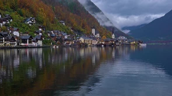Thumbnail for Traditional homes near lake in famous Hallstatt village