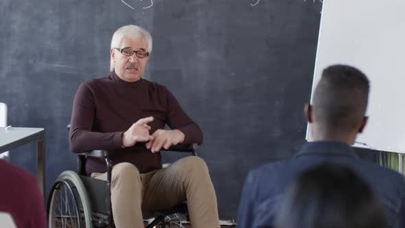 Thumbnail for Disabled Professor Asking Questions to Students