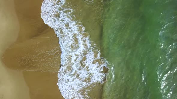 Thumbnail for Turquoise Waves on a Shore Turn Into of Foaming. Aerial Survey