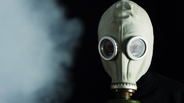 Thumbnail for Man In A Gas Mask And Smoke