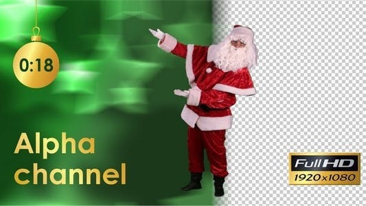 Thumbnail for Santa Claus Shows his Hands to the Side