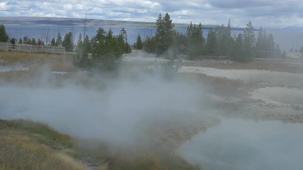 Thumbnail for Steaming pools in Yellowstone National Park