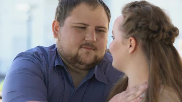 Thumbnail for Male Stroking Girlfriends Face, Couple Affection, Feelings Expression, Love