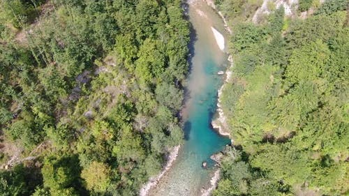 Aerial view of Tara River canyon (the deepest in Europe)
