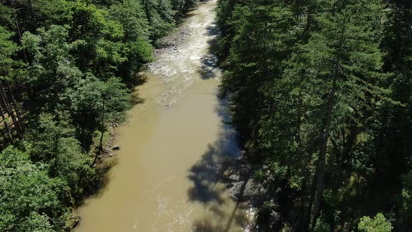 Thumbnail for Aerial View of a Mountain River