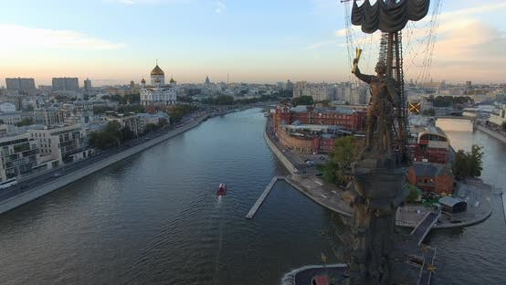 Thumbnail for Aerial View of the Peter the Great Monument