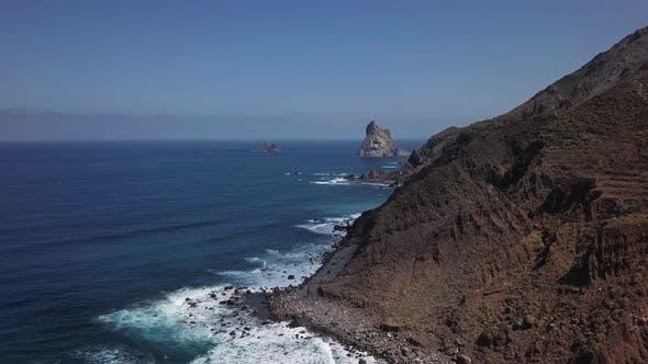 Cover Image for Aerial of Benijo Beach, Tenerife
