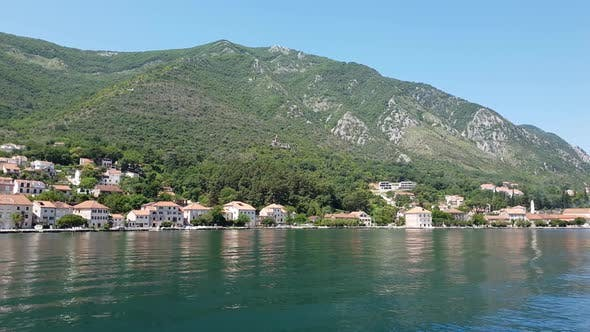 View of Prcanj From Kotor Bay, Montenegro