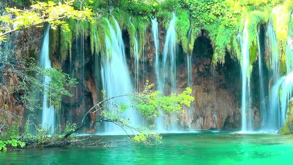 Thumbnail for Waterfall in forest Plitvice Lakes National Park, Croatia