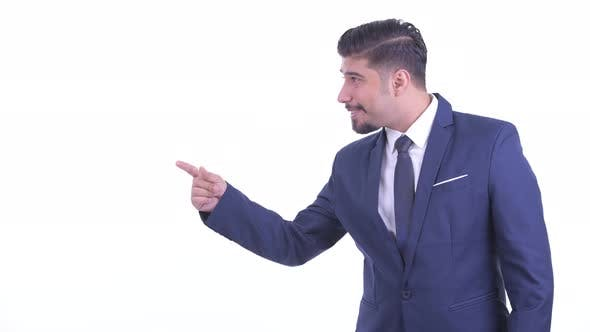 Thumbnail for Happy Bearded Persian Businessman Snapping Fingers