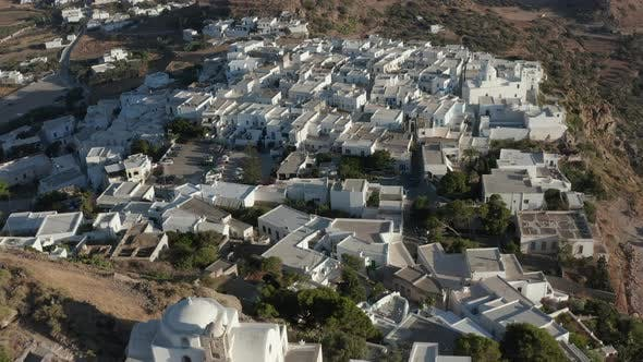Thumbnail for Church in a Greek Village on Top of the Hills, Aerial Perspective