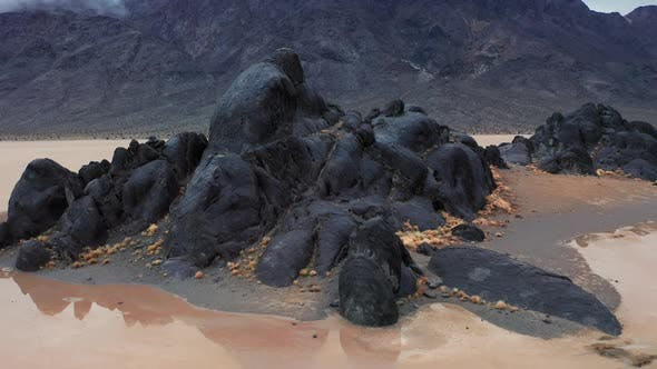 Thumbnail for Cinematic Aerial of Desert Landscape. Wild Nature and Outdoor Motion Background