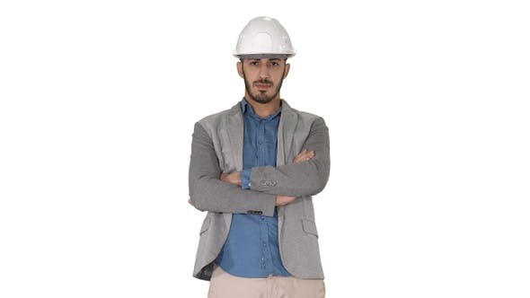 Thumbnail for Confident construction engineer architect young man in
