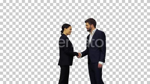 A confident and considerate handshake, Alpha Channel