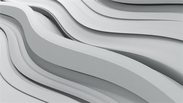Slow White Wave Background