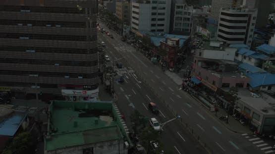 Cityscape of capital city Seoul in South Korea