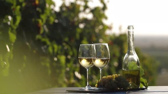 Golden White Wine
