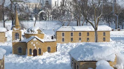 Winter Playground with Child House