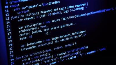 Digital Screen Computer Code Programming