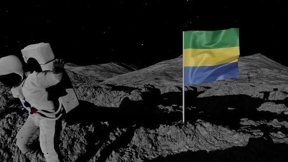 Thumbnail for Astronaut Planting Gabon Flag on the Moon