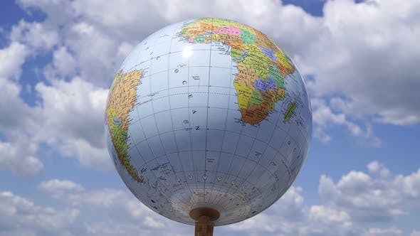 Thumbnail for Rotating Earth Globe In The Atmosphere 1.