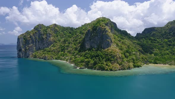 Thumbnail for Lagen Island. El Nido, Palawan, Philippines. Paradise Tropical Sandy Ipil Beach with Azure Turquoise