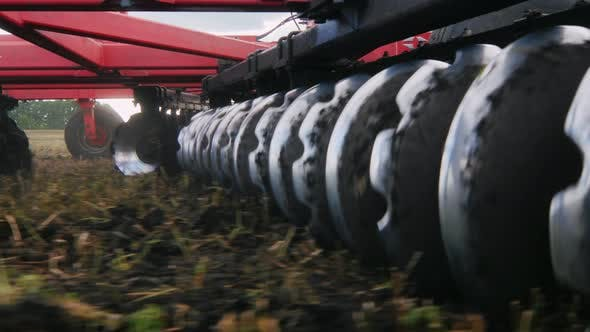Thumbnail for Stedicam Shot: Agricultural Machinery for Cultivation of Land. Moves in the Field