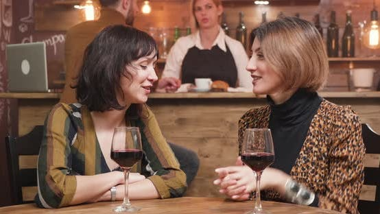 Thumbnail for Beautiful Young Women Celebrating Their Friendship with a Glass of Wine