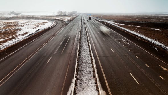 Thumbnail for Country Highway in Winter