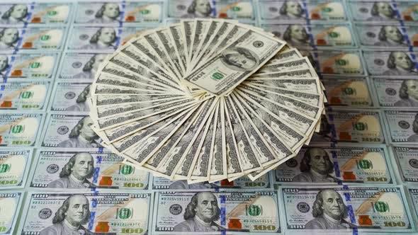 Hundred dollar banknotes
