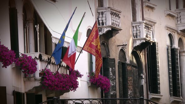 Thumbnail for Venice Building And Flags