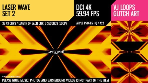 Laser-Welle (4K Set 2)