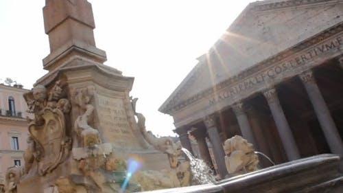 Fontana del Pantheon Tilt Up