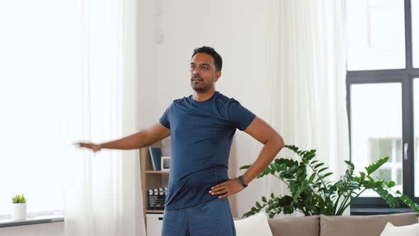 Thumbnail for Indian Man Exercising and Leaning at Home