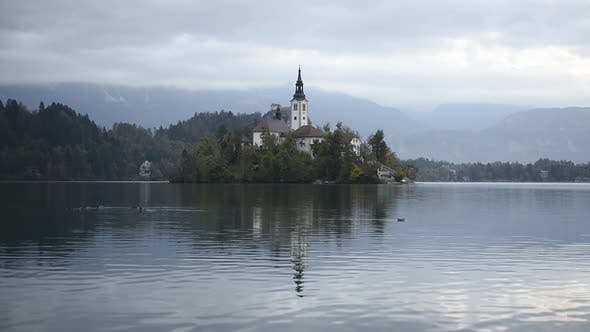 Thumbnail for Colorful Sunrise View of Bled Lake in Julian Alps, Slovenia