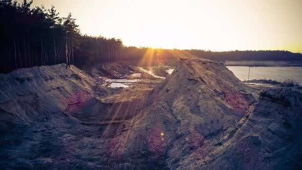 Thumbnail for Aerial Shot of Evening Sand Pit
