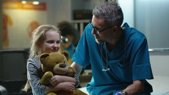 Thumbnail for Friendly Doctor Talking with Girl