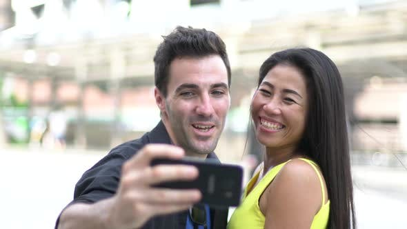 Cover Image for Couple Taking Selfie