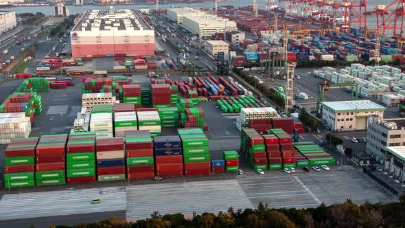 Thumbnail for Timelapse Cars Traffic at Modern Tokyo Container Terminal