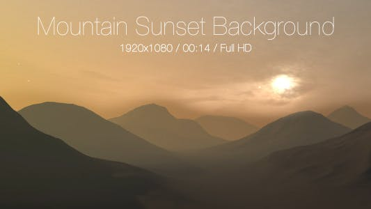 Cover Image for Mountain Sunset Background